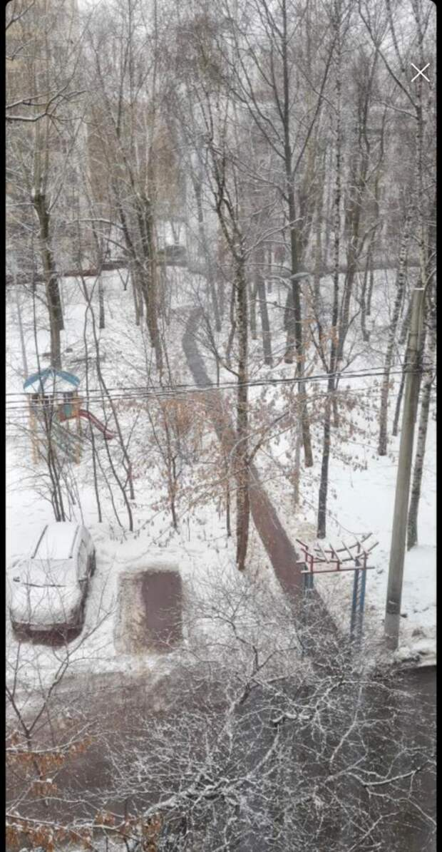 Тротуар в Путевом очистили от снега