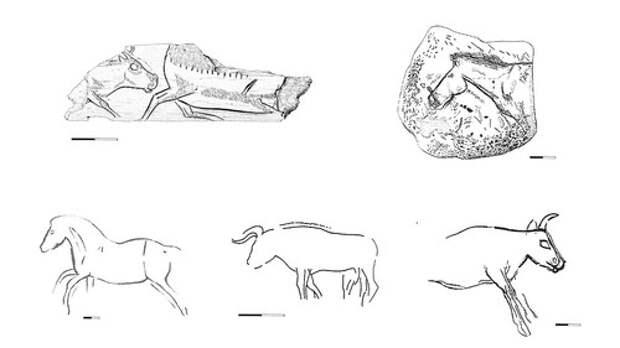 Доисторические гравюры которым 14000 лет