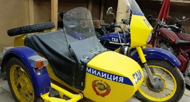 Особенности советского мотоцикла для милиции М-100