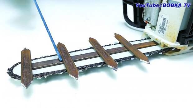 Как превратить цепную пилу в триммер-кусторез полезная съемная оснастка