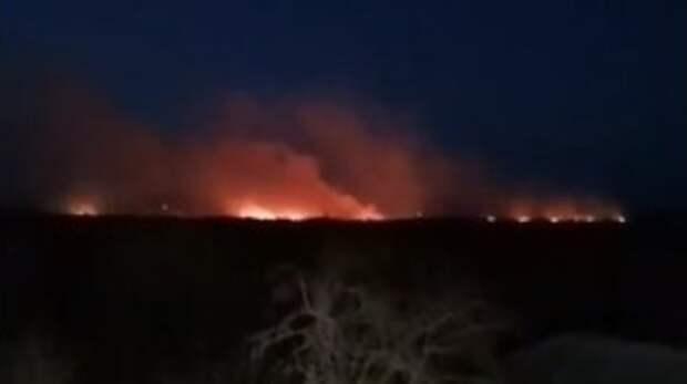 Площадь горения Артемовских лугов увеличилась до17 га