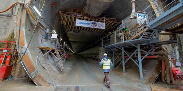 Собянин дал старт проходке тоннеля метро от «Пыхтино» до «Рассказовки». Фото: В. Новиков mos.ru