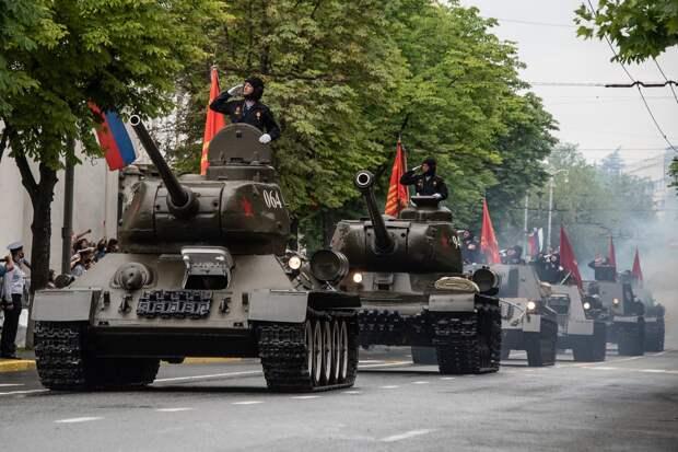 Танк Т-34 возглавит механизированную колонну на 9 мая в Севастополе