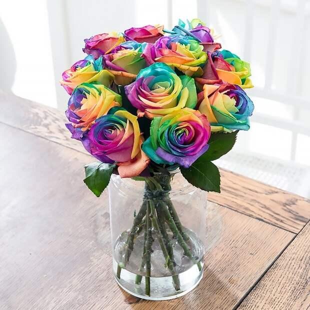 Чудесное перевоплощение белых роз, такой букет удивит всех