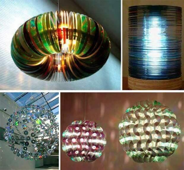 Оригинальные люстры, сделанные своими руками. Много идей для творчества.