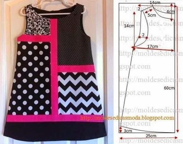 Платья для девочки с выкройкой (подборка)