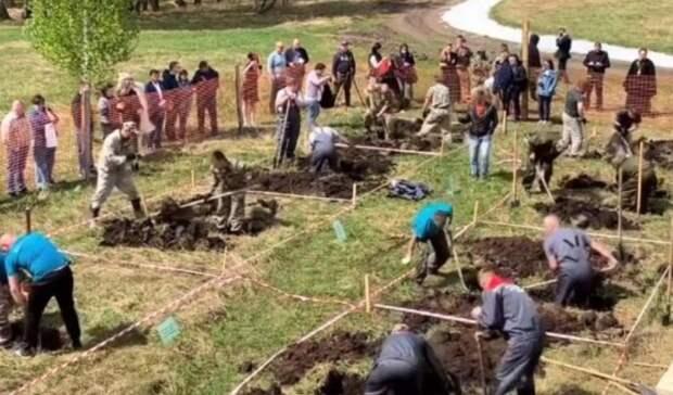 Дожили! В Новосибирске прошли соревнования по скоростному выкапыванию могил