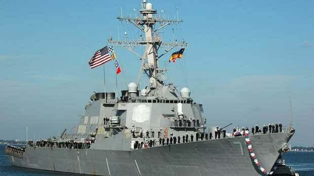 Ракетный эсминец ВМФ США взят под контроль российскими средствами уничтожения надводных кораблей