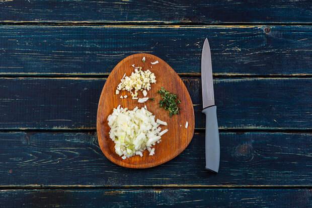 Сытный ужин: кремовое ризотто с креветками и лепестками миндаля