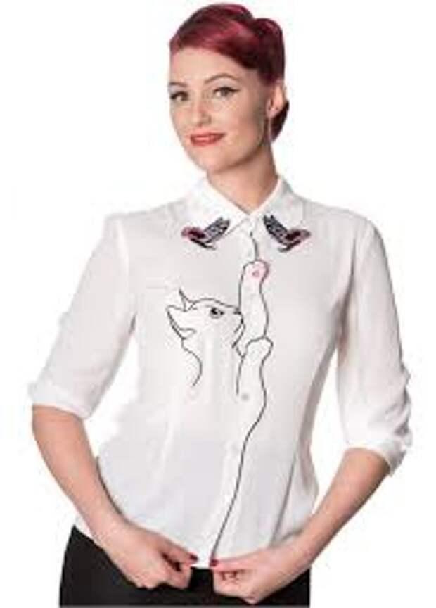 блузки с кошками