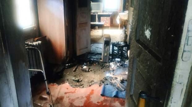 При пожаре в Харькове погиб пожилой мужчина