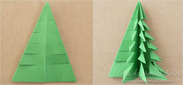 Arbolito navideño papel 9