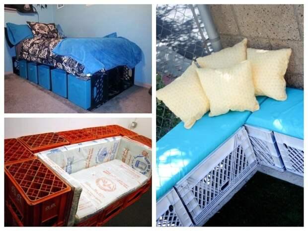9 способов полезного использования пластмассовых ящиков на даче
