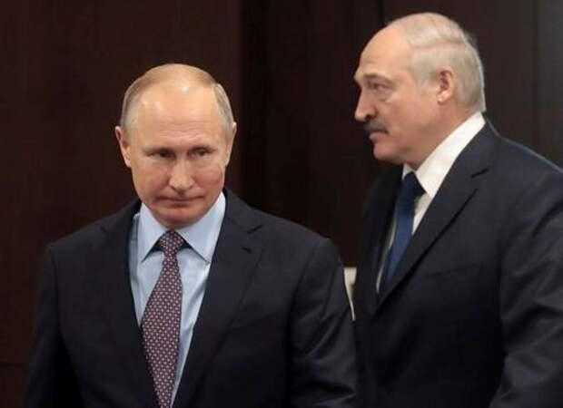 Президент РФ Владимир Путин и президент Белоруссии Александр Лукашенко на встрече в Сочи, 15 февраля 2019 года. Sergei Chirikov/Pool via REUTERS