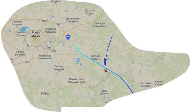 Победивший на выборах Лукашенко сбежал в Турцию?) Полет в реальном времени на planefinder.net