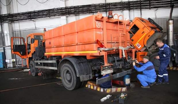 Коммунальщики СВАО активно готовят технику к зиме