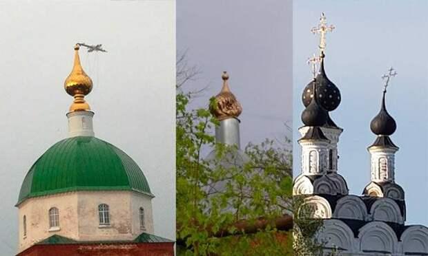 Сильный ураган во Владимирской области согнул на церквях кресты