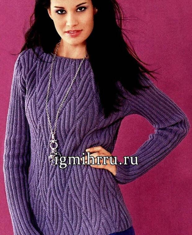 Пуловер и шарф - бактус спицами