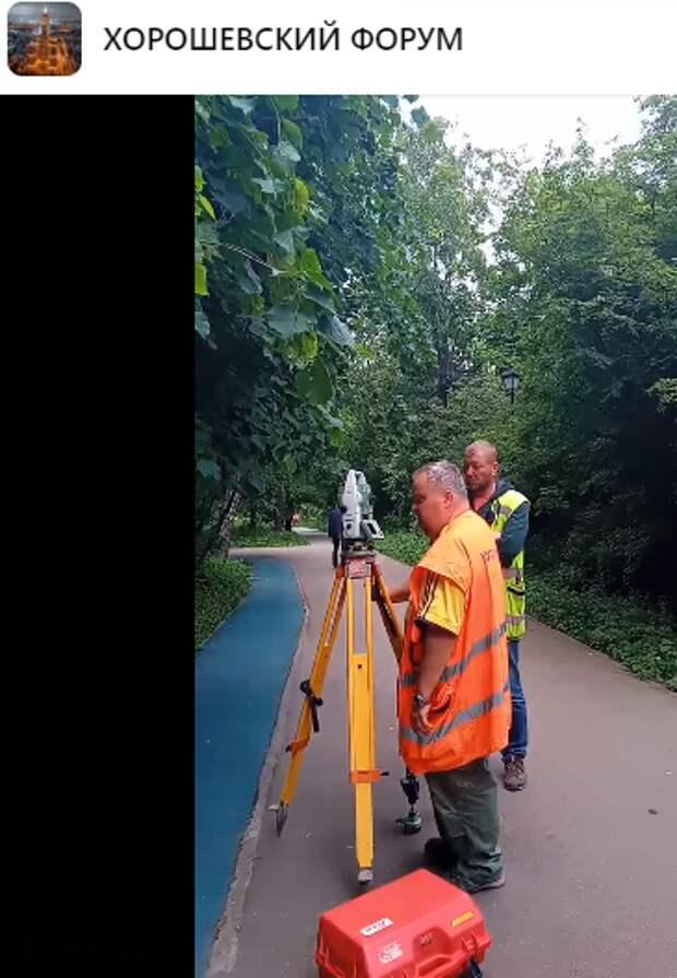 В парке «Березовая роща» проводят геодезические  измерения — управа