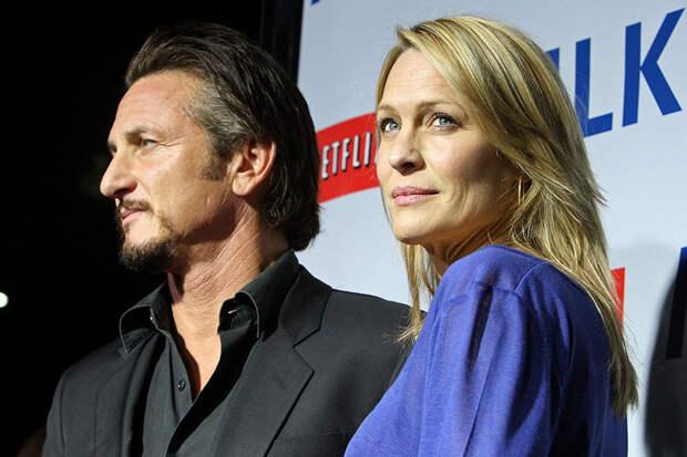 С супругом Шоном Пенном в Лос-Анджелесе, 2008