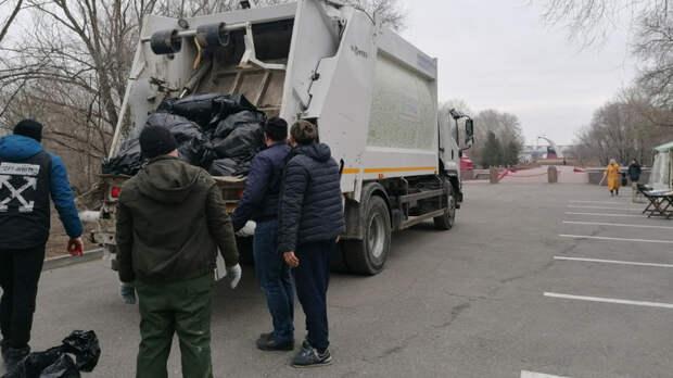 ИзКумженской рощи вРостове вывезли 60 тонн мусора