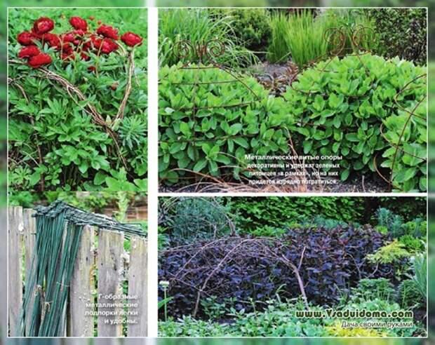 Опоры (подпорки) для многолетних цветов своими руками