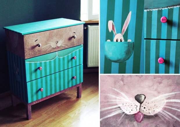 Зайки, слоники и котики (детская мебель)