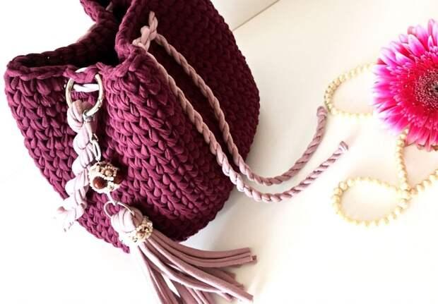 Вязаная сумка-торба