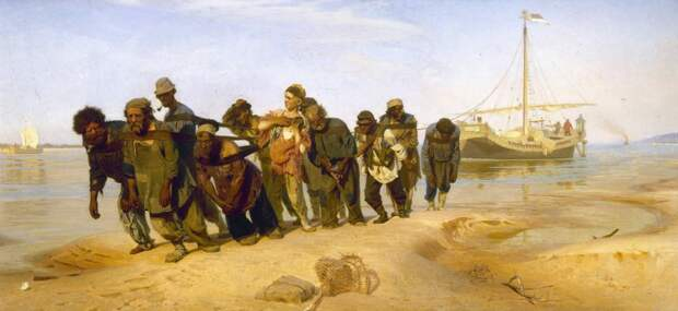 Илья Репин Бурлаки на Волге, 1870-1873 гг.