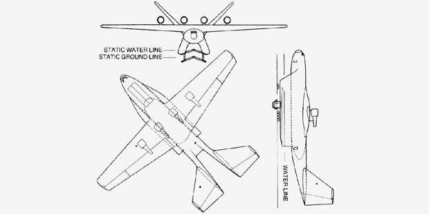Проект патрульного экранолёта Lockheed Georgia SeaSitter внекоторых публикациях известного какSeaStar
