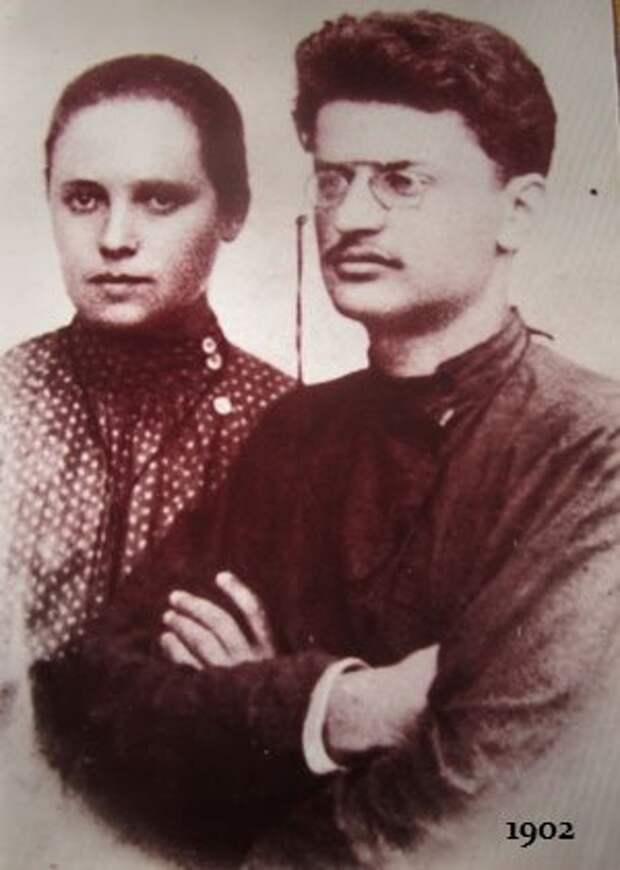 Александра Львовна Соколовская, первая жена Троцкого