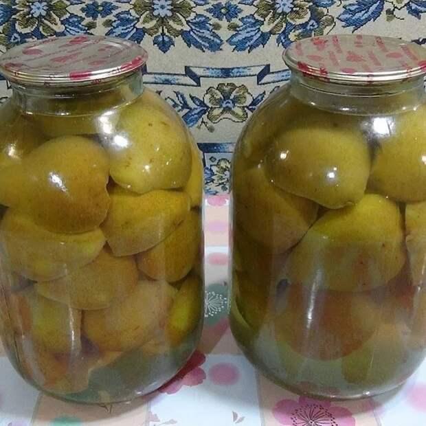 Компот грушевый с лимонным соком