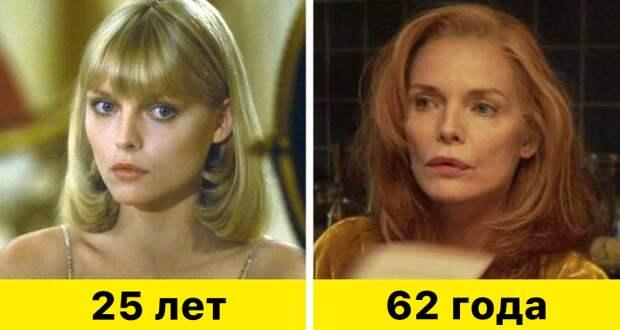"""3. Мишель Пфайффер - """"Лицо со шрамом"""" (1983) и """"Уйти не прощаясь"""" (2020)"""