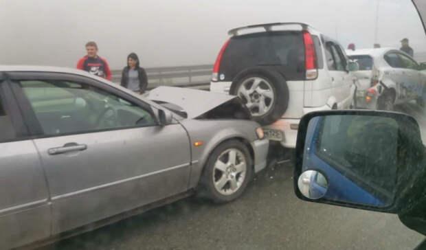 Внепогоду— строже: вГИБДД дали подробности массовой аварии наобъездной трассе