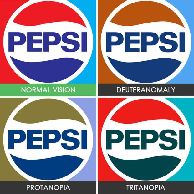 22. Pepsi  дальтонизм, люди, мир