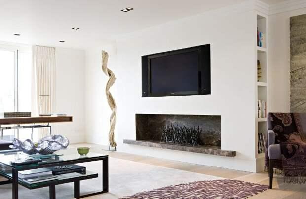 Телевизор в интерьере квартиры: выбор места и окружающий антураж (83 фото)