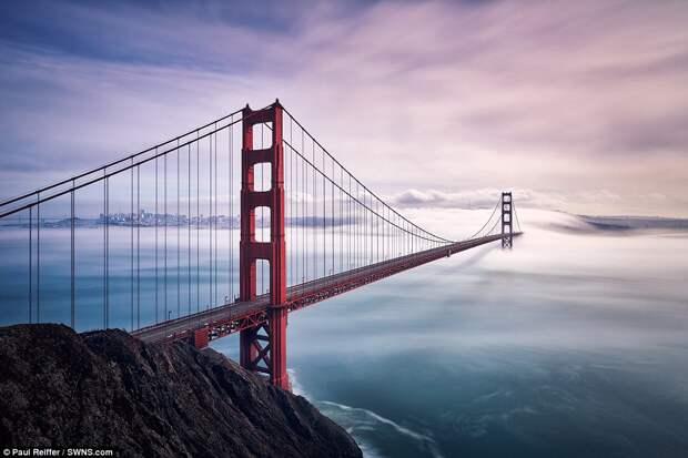Мост Золотые Ворота в Сан-Франциско, штат Калифорния, США.