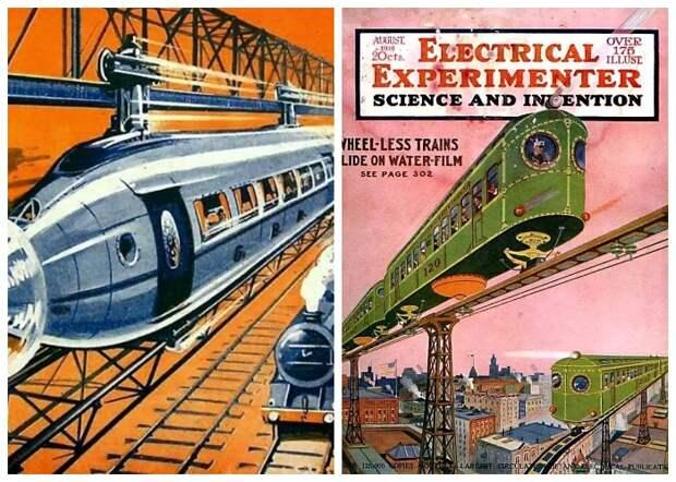 Многие журналы тех времен, на своих обложках печатали пророчества в сфере достижений науки и техники.