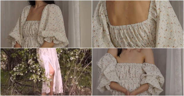 Очень красивое и романтичное платье и без выкройки. Справится даже новичок