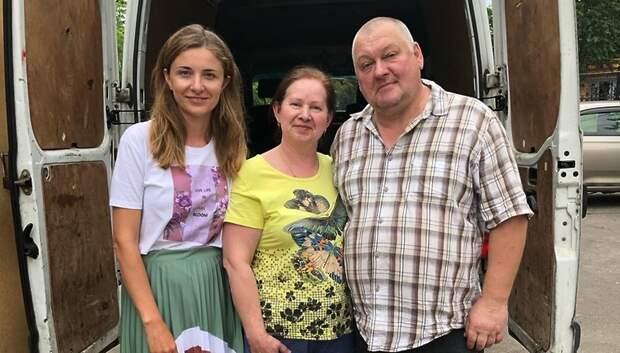 Волонтеры Подольска передали одежду для нуждающихся в Тверской области