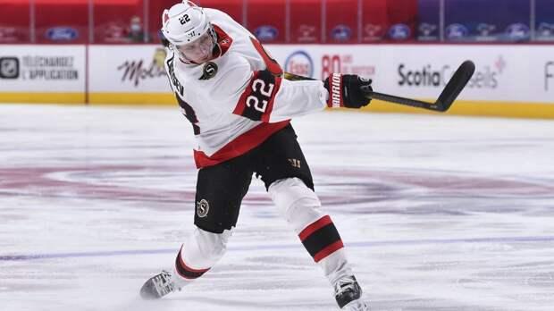 Эффектный гол русского защитника в НХЛ. Зайцев вколотил шайбу, заставив звенеть штангу!