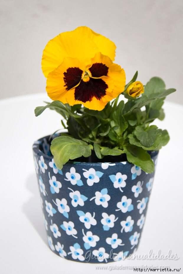 Варианты декорирования цветочных горшков (52) (466x700, 190Kb)