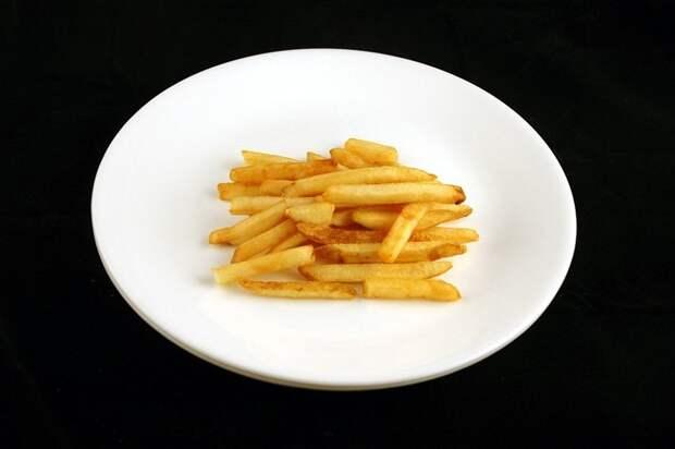 Картофель фри (73 грамма = 200 калорий):