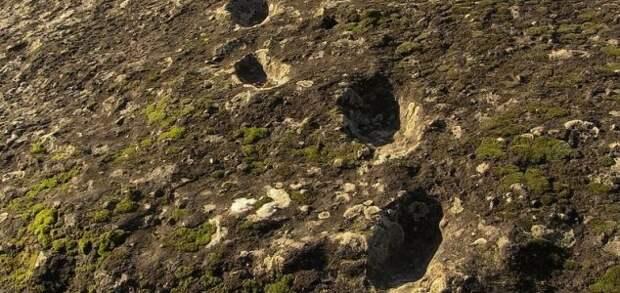 Кто оставил следы на склоне вулкана 350 000 лет назад?