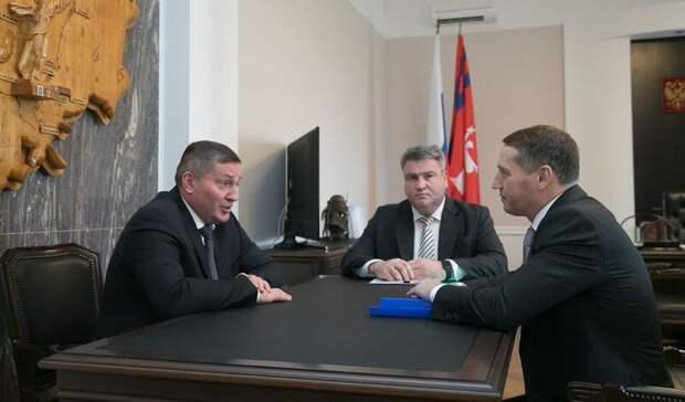 Бочаров провел встречу с главой нефтепроводной компании
