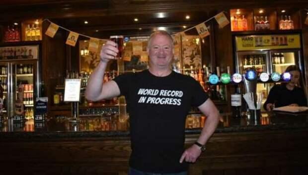 Британец сутки ходил по пивным, чтобы попасть в Книгу рекордов Гиннесса