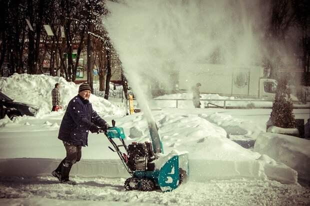 Снег, Уборка, Человек, Снегоочиститель, Зима, Холодный