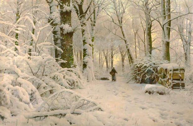 Снег в подлеске, 1916 год