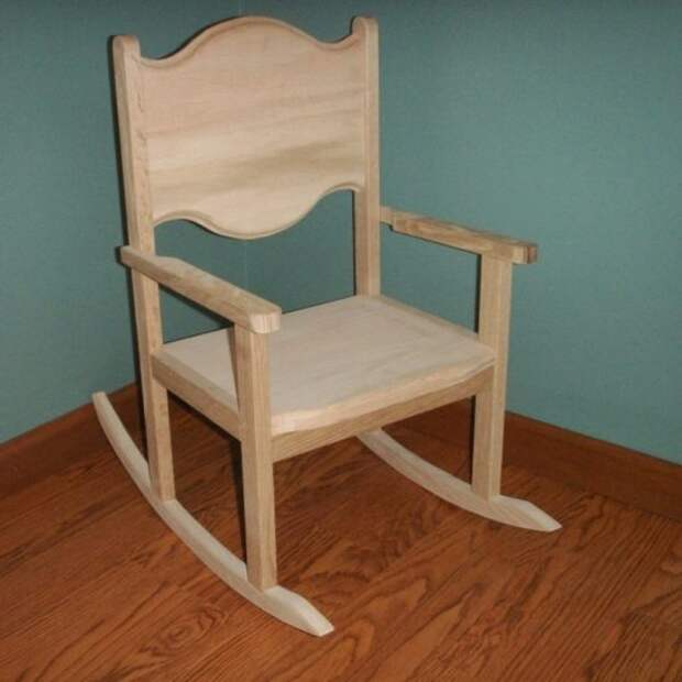 Кресло-качалка из старого стула