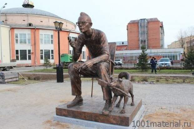 Памятник Л. Гайдаю в Иркутске